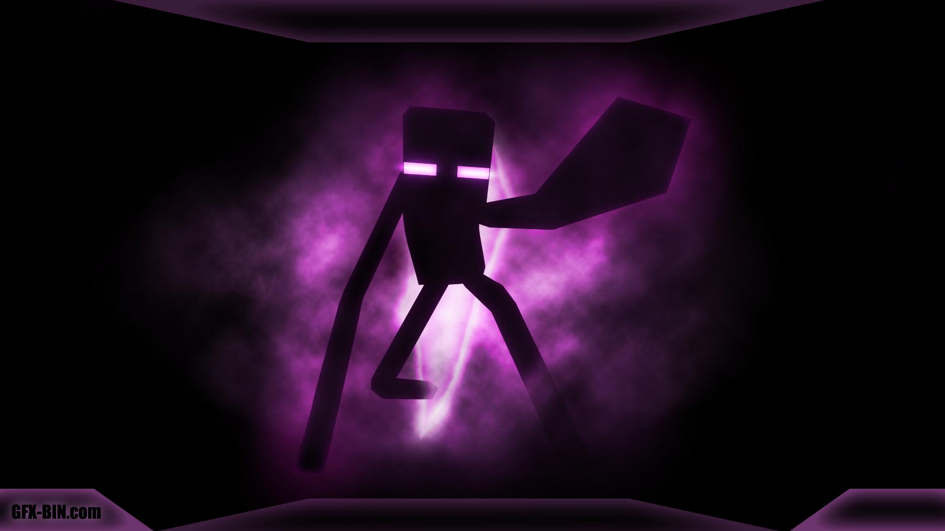 Good Wallpaper Minecraft Neon - enderman_wallpaper-(1920x1080)  Image_287338.png
